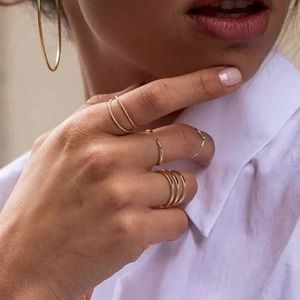 Dainty Gold Open Band Ring